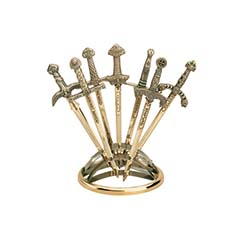 Miniature Sword Display Stand Silver Ring by Marto of Toledo Spain – Seven Sword Display
