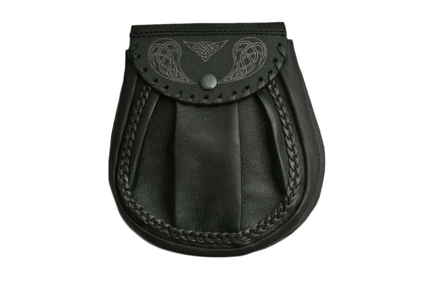 CELTIC WING SPORRAN BLACK