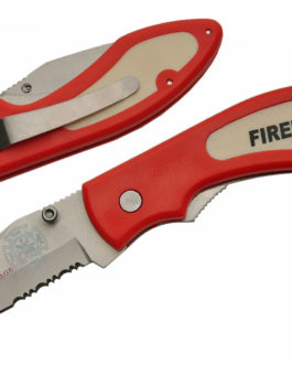 4 1/4″ RED FIREMAN FOLDING KNIFE