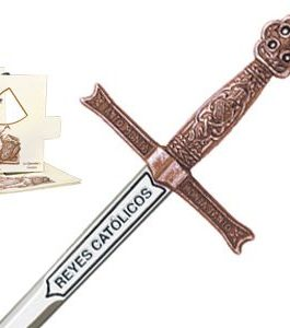 Miniature Sword of Catholic Kings (Bronze) by Marto of Toledo Spain