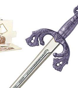 Miniature El Cid Campeador Tizona Sword (Silver) by Marto of Toledo Spain