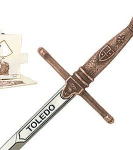 Miniature Toledo Sword (Bronze) by Marto of Toledo Spain