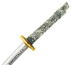 "Miniature ""Highlander"" Dragon Samurai Katana Sword (Gold) by Marto of Toledo Spain"