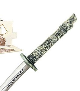 "Miniature ""Highlander"" Dragon Samurai Katana Sword (Silver) by Marto of Toledo Spain"