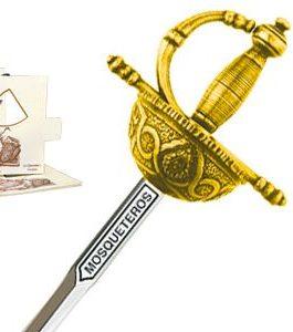 Miniature Three Musketeers Rapier Sword (Gold) by Marto of Toledo Spain