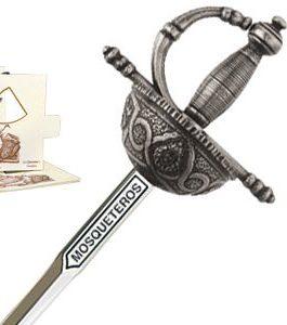 Miniature Three Musketeers Rapier Sword (Silver) by Marto of Toledo Spain