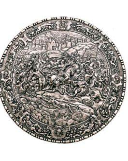 Spanish Round Shield 16th Century Philip II by Marto of Toledo Spain