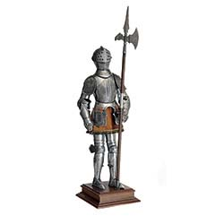 Miniature 16th Century Spanish Suit of Armor with Halberd by Marto of Toledo Spain