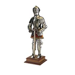 Miniature 16th Century Spanish Suit of Armor with Sword by Marto of Toledo Spain