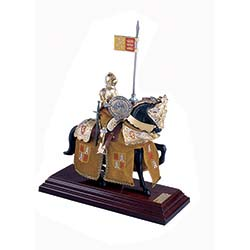 Mounted English Knight of King Arthur in Suit of Armor by Marto of Toledo Spain