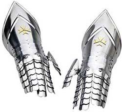 Templar Knight Armor Gauntlets by Marto of Toledo Spain