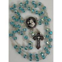 Damascene Silver Chalice Rosary Beads by Midas of Toledo Spain style 9600-1