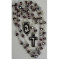 Damascene Silver Chalice Rosary Beads by Midas of Toledo Spain style 9601