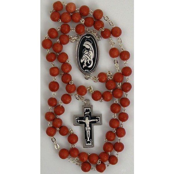 Damascene Silver Jesus Rosary Beads by Midas of Toledo Spain style 9604