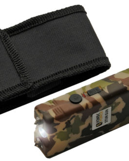 4′ KWIK FORCE CAMO STUN GUN W/ BUILT IN CHARGER