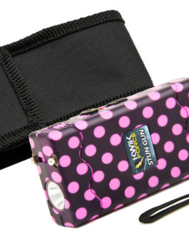 4″ KWIK FORCE POLKA DOT STUN GUN W/ DISABLER PIN