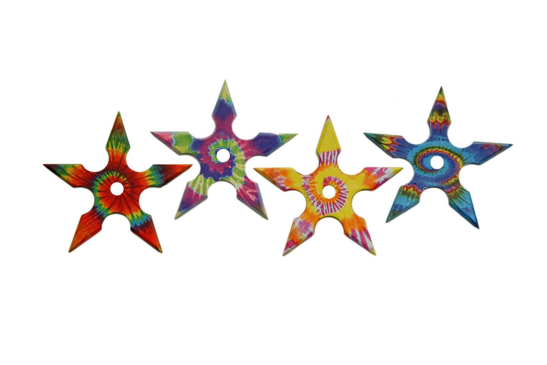 4 PIECE TRIPPIE HIPPIE THROWING STARS