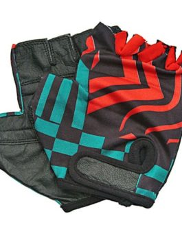 RED TIGER LYCRA FITNESS GLOVES -SIZE: MEDIUM
