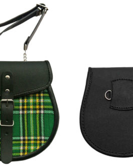 GREEN PLAID SPORRAN