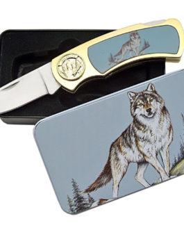 WOLF TIN GIFT BOX