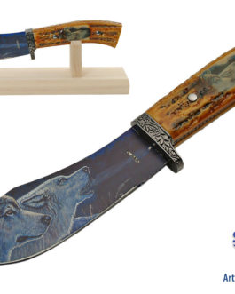 10″ WOLF STAG STYLE HUNTING KNIFE