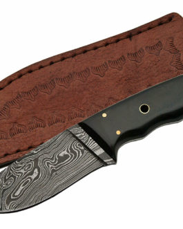 8″ DAMASCUS PIPE FITTED HORN BOWIE