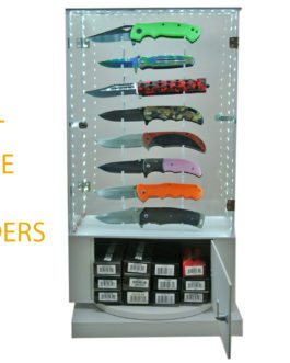 16 PC LED ROTATING DISPLAY WITH KNIVES