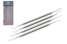 4 PIECE DENTAL PICK SET (STAINLESS STEEL)