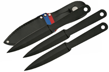 3 PIECE 7″ THROWING KNIFE SET