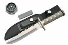 12″ SILVER HANDLE SURVIVAL KNIFE