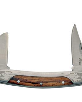 ZEBRA WOOD 2 BLADE FOLDING KNIFE