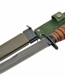 WWII M3 12″ TRENCH KNIFE W/HARD SHEATH