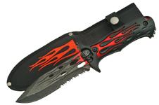 10″ FLAME SKULL KNIFE (RED)