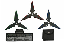 3 PIECE THROWING STAR SET