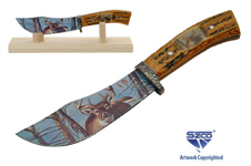 10″ DEER STAG STYLE HUNTING KNIFE