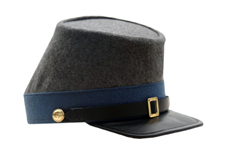 BLUE CONFEDERATE INFANTRY KEPI(LARGE)