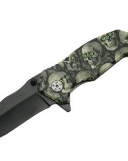 ZOM-B SKULL EYES 4.5″ FOLDING KNIFE
