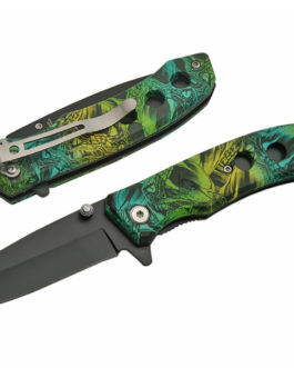 3.75″ VENOM CAMO FOLDING KNIFE – SPRING ASSIST