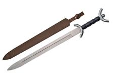 31″ CELTIC WAR SWORD Black Handle