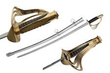 40″ 1840 BLACK HND CALVARY TROOPER SWORD