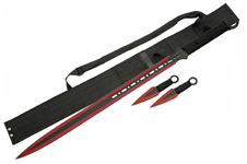 28″ NINJA SWORD INCLUDES 2 PC THROWING KNIFE