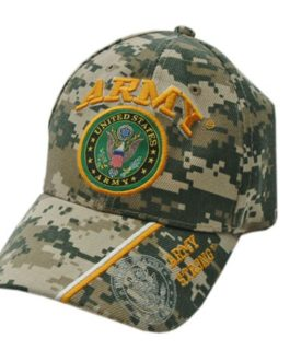 CAMO CAP WITH UNITED STATES ARMY EMBLEM