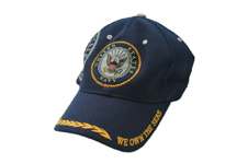 NAVY BLUE CAP WITH NAVY EMBLEM & SHADOW EMBLEM
