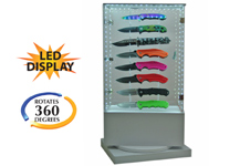 16 PIECE LED ROTATING KNIFE DISPLAY