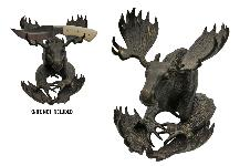 MOOSE DISPLAY BRONZE ANTLER