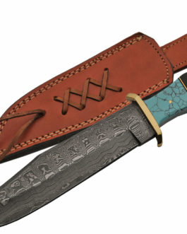 12.5″ HORN/TURQOUISE BOWIE KNIFE