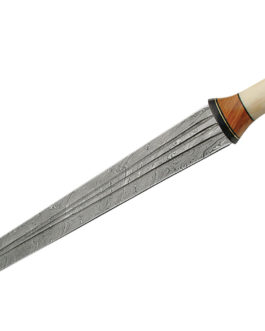 24″ DAMASCUS SWORD WITH BONE HANDLE