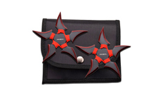 2 PIECE 5 POINT RED THROWING STARS