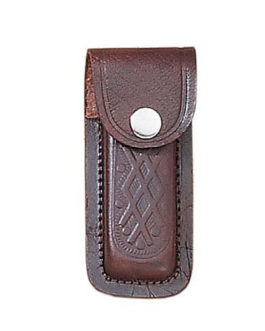 4″ PRINTED BROWN LEATHER SHEATH