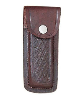 5″ BROWN PRINTED LEATHER SHEATH